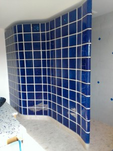 Color Glass Block Shower