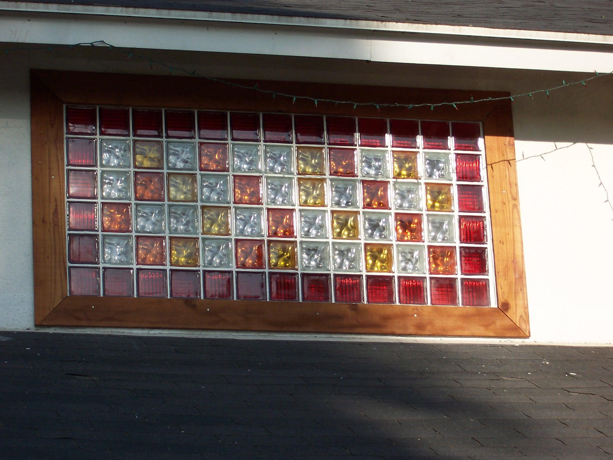 Color glass blocks eastern glass block for Acrylic block window