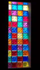 Color glass block collage
