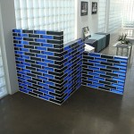 Solid Glass Block 2-color Partition