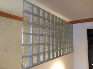Glass block photo gallery for Glass wall partitions residential