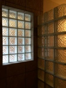 prefab glass block window