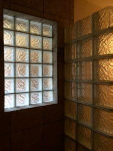 prefab glass block window