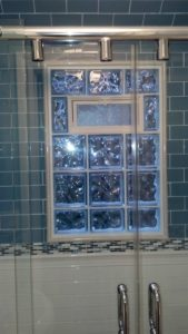 prefab glass block window with fresh air vent